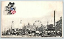 New York City~Coney Island~Surf Avenue~Ferris Wheel~Arthur Livingston Flag~c1903