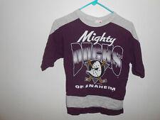 Vintage Anaheim Mighty Ducks Wild Wing Shirt Youth M Medium 10-12 USA Made