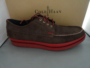 NEW COLE HAAN MASON 4 EYE OXFORD MEN'S LACE-UP LEATHER SHOES CHESTNUT