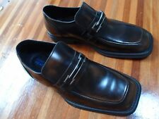 Kenneth Cole Mens Reaction 8.5US Brown Black Dress Leather Shoes NEW