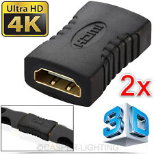 2x HDMI Extender Female to Female Coupler Joiner Connector Adapter HD 1080p HDTV