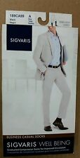 Sigvaris Well Being MEN'S Business Casual Support Socks 15-20 mmHg Black Size A