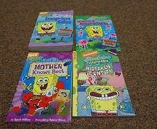 SPONGEBOB 4 books with 9 stories BY VARIOUS AUTHORS, MOTHER KNOWS BEST, SPONGEBO
