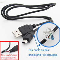 10x 1M/3.3FT USB 2.0 A Male to Mini 5pin B Male 28AWG Copper Data Charging Cable