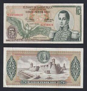 Colombia 5 pesos oro 1964 SPL-/XF-  A-04