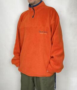Vintage Quarter Zip Fleece Mens XL Excellent Condition Retro 90s Vtg -Orange