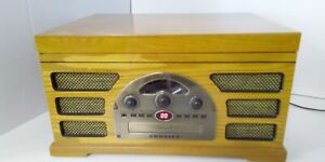Crosley Turntable Record Player With Cassette  Radio model 2450-2 T Tested#150