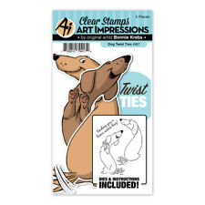 Art Impressions Dog Twist Ties Clear Acrylic Stamp & Die Set 4987