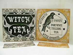 Fortune Teller Psychic Witch Halloween Tea Bag Envelopes Party Favors  (Qty-6)