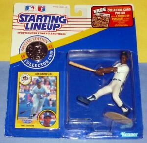 1991 KEN GRIFFEY JR Seattle Mariners *FREE_s/h* HOF Starting Lineup + steel coin