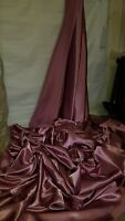 "1M new dusky pink DRESS  SATIN FABRIC..58""  WIDE"
