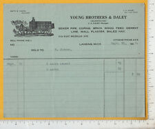 A434 Smith G. Young Brothers & Daley billhead coping brick hay Lansing, MI 1915