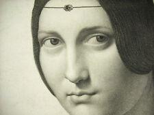 La Belle Ferronnière d'ap Léonard de Vinci Jean Aug Dom INGRES c1820 superbe