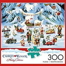 NEW CHARLES WYSOCKI LARGE 300 PIECE JIGSAW PUZZLE BUFFALO GAME Jingle Christmas