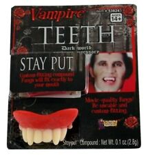 Deluxe Vampire Monster Teeth Fangs Dracula Costume Accessory Wolf NEW Prop Fake