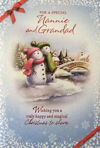 NANNIE AND GRANDAD CHRISTMAS CARD