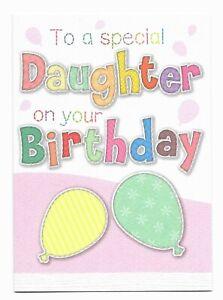Happy Birthday Special Daughter Fun Greetings Card Girls -UK Made- Free P&P