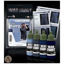 SCALA 75 FRONTE DI GUERRA IN MARINA WW2 COLORI VERNICE ACRILICA SET 4 Bottiglie