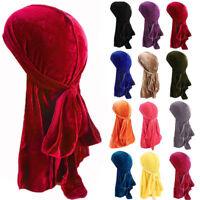 Fashion Men Women Velvet Hat Premium Cap Focus On Doo Durag Headwear Gift