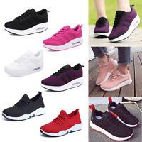 New Women Spring Lace Up Shape Ups Walking Jogging Platform Wedge Sneakers Shoes