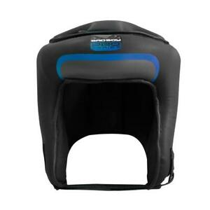 Bad Boy Pro Series 3.0 Open Face Guard Blue Leather Boxing Kickboxing Striking