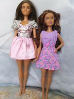 Lot of Two Hispanic Latina Barbie Dolls Fashionista ? & Skipper Curly Hair