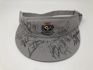 Payne Stewart Multi Signed Hat PGA Tour Visor NEW Firestone CC Autograph