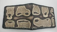 Real Ball Python Snake Skin Handmade laced wallet with removable ID case