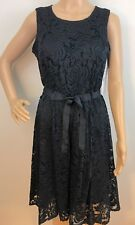 NWT Nordstrom/Sharagona Black Lace A-Line Sleeveless Cocktail/Party Dress Sz 6P