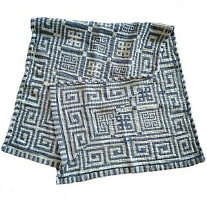 Linen Towels With a Greek woven pattern. High quality. Ecologically Clean body t