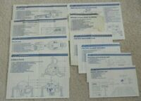 Lot 1980s GI Joe Cobra 10 Blueprints Directions Instruction Sheets Paperwork Set