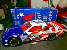 1996 DALE EARNHARDT AUTOGRAPHED SIGNED 1/24 #3 OLYMPIC CAR.