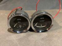 BMC Austin Morris Mk1 Mini Cooper S - Smiths Oil and Temperature Gauges