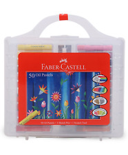Faber-castell Oil Pastels Set of 50 Easy to Pack and Carry Colour Tool Box Color