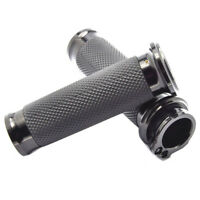 Black 1'' 25mm Handle Bar Hand Grips For Harley Dyna FatBoy Sportster 1200 883