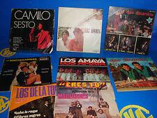 Vinilo Lote de 8 singles EP- CAMILO SESTO-DUO DINAMICO-AMAYA observa los titulos