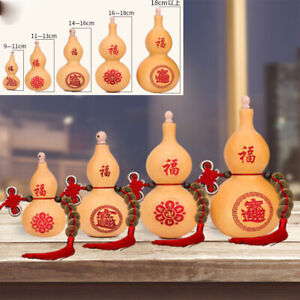 Natural Gourd Ornaments Ornaments Dried Bottle Home Craft Decor with Tassel Gift