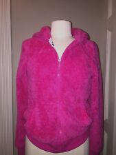 Womens Juniors Medium•Live to Be Spoiled•Zip Up Hoodie•hot Pink>CAT Face On Hood