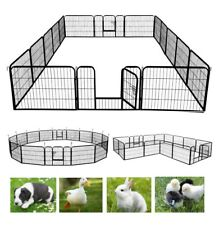 New listing Large Metal Pet Dog Playpen Crate Fence Pet Play Pen Exercise Cage -16 Panel Ad
