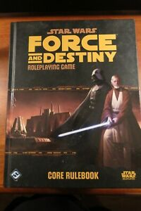 STAR WARS FORCE AND DESTINY CORE RULEBOOK RPG FANTASY FLIGHT HC RARE