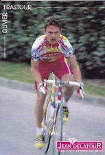 CYCLISME carte cycliste OLIVIER TRASTOUR équipe JEAN DELATOUR 2000