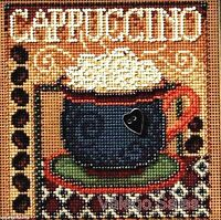 """Mill Hill Buttons Beads Cross Stitch Kit 5"""" x 5"""" ~ CAPPUCCINO Sale #14-8202"""