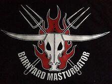 Barnyard Masturbator Cock 'n' Roll Punk Rock VintageT-Shirt Skull 'n Cross Forks