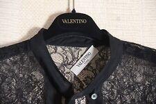 Haute couture brand new valentino black lace blouse, size 6