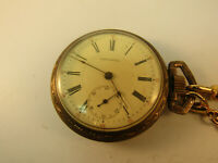 IMPERIAL ROMAN NUMBER DIAL POCKET WATCH RUNS AND STOPS FOR RESTORATION OR PARTS.