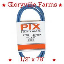 """Made w/ Kevlar Drive Belt Fits MTD Cub Cadet 954-0461 754-0461 1/2"""" X 78"""" (A76K)"""