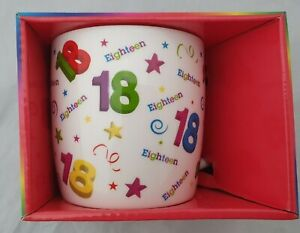 AGE BIRTHDAY MUG 18 GIFT BOXED PRESENT GIFT 18TH EIGHTEEN CUP PRESENT