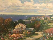 """""""Seaside Villa"""" ~ Ming Feng ~ Signed and numbered serigraph 246/350"""