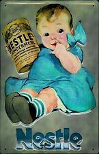 Nestles Kindermehl embossed steel sign pt  300mm x 200mm (hi)