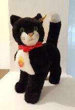STEIFF STANDING BLACK CAT DOSSY 2738/26 VINTAGE 29CM
